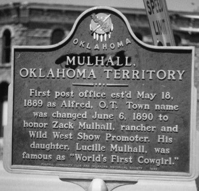 Mulhall OK Historical Marker