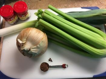 Onion-Leek-Celery-Allspice-Cloves