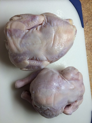 Cornish hens, thawed