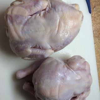Cornish hens, thawed