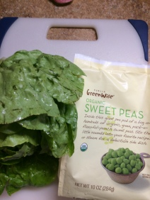 Lettuce and peas