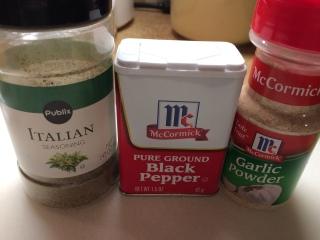 Three simple seasonings