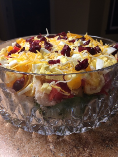 Salad layered and ready to eat