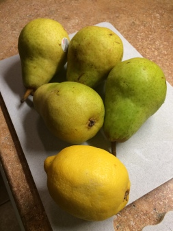 Pears and Lemon